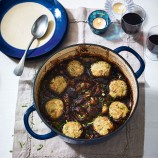 Beef and Porcini in Stout with Tarragon Dumplings