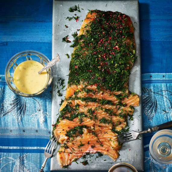Gin, Pink Peppercorn and Dill-Cured Salmon Recipe