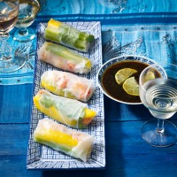 Crayfish Rice paper Rolls
