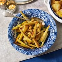 Thyme and Prosecco Parsnips