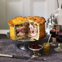 Hot Water Crust Pastry Hand Raised Chicken and Ham Pie