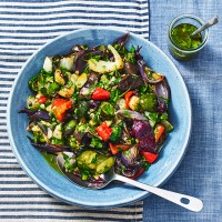Roast Vegetable Salad With Anchovy Dressing