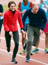 The Best Moments From The Duke and Duchess of Cambridge and Prince Harry's Relay Race