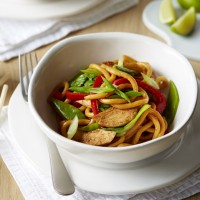 Chicken noodles Oriental style