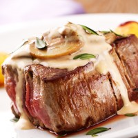 Steak with Stilton, Mushroom and Marsala Sauce