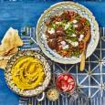 Falafel Salad with Turmeric Houmous