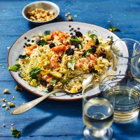 Prawn Pilaf With Fennel and Sour Cherries