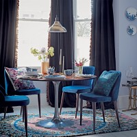 Create a luxurious dining room look