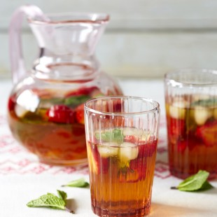 Iced Tea Made With Rooibos and Strawberries