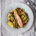 Pan Fried Salmon On A Fresh Sweetcorn Salsa
