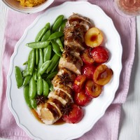 Glazed Pork Tenderloin with Plums