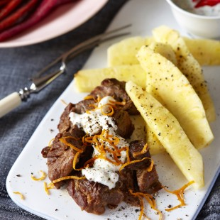 Moroccan Lamb With Pineapple And Chilli Yogurt