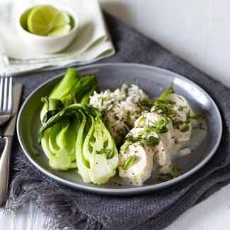Coconut Chicken with Pak Choi