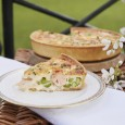 Buckingham Palace's Salmon, Broad Bean and Tarragon Quiche