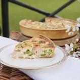 Buckingham Palace's Salmon, Broad Bean and Tarragon Quiche