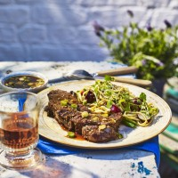 Korean-Style BBQ Steak With Soy And Sesame Dip