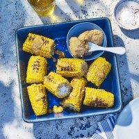 BBQ Corn On The Cob With Crab Butter