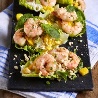 Lettuce Wraps With Vietnamese Style Prawns