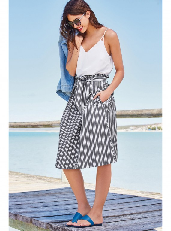 Stripe skirt, £38, Next