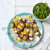 Grilled Paneer with Butternut Squash and Spiced Yoghurt