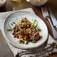 Korean Pork with Pickled Cauliflower
