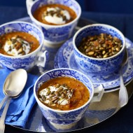 Roast Pumpkin Soup with Toasted Seeds