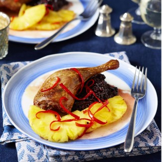 Duck Legs with Sweet and Sour Pineapple