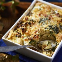 Strata with Spinach and Bacon