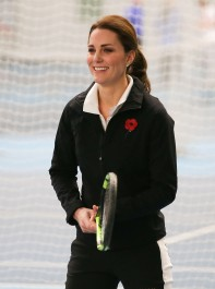 The Duchess Of Cambridge Seeks Expert Tennis Tips For 'Interested' Prince George