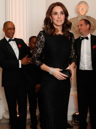 The Duchess Of Cambridge Dazzles In A Diane Von Furstenberg Gown As She Displays Hint Of Baby Bump