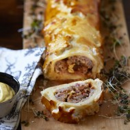 Cheese and Pickle Sausage Roll